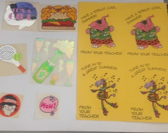 Big Lot Of Vintage 1980s 80s Stickers #7