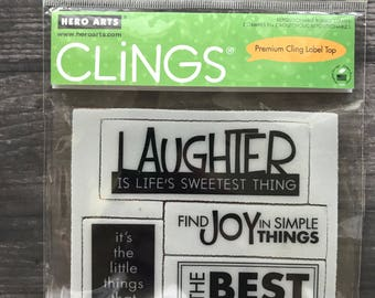 Hero Arts Cling Stamps Laughter