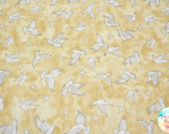 Quilting Treasures Heavenly Doves in Parchment Cotton Fabric