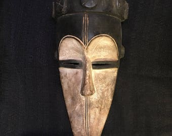 Handcarved Tribal Mask from Pende, Congo