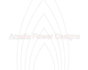 Large paper flower PDF template #5. DIY large paper flower pdf template. Paper flower template.