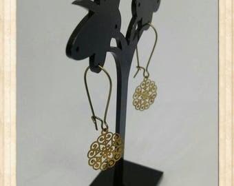 """Earrings sleepers """"Chimera"""" print"""
