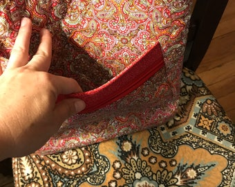 Red paisley