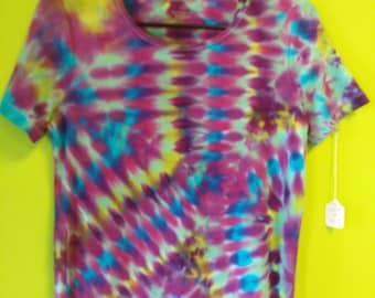 Tie Dye Crew Neck Blouse Medium