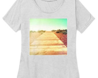 Beach Boardwalk Womens T-Shirt