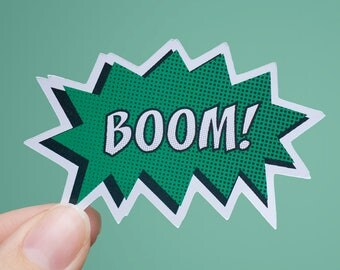 BOOM! Sticker | Comic Book Sticker | Matte or Glossy Finish