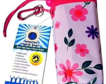 Amazing Reusable Bags !!!  Pink Flowers