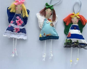 Fabric handmade doll-Angelina