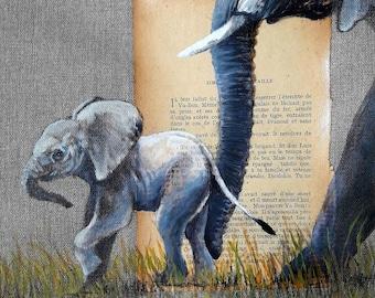 ELEPHANT.01. 30X30cm
