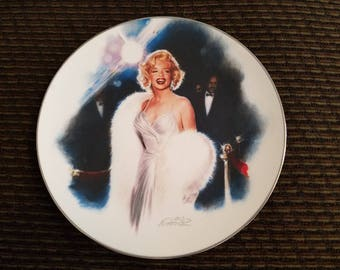 "ON SALE Marilyn Monroe Collectible Plate ""Opening Night"" Vintage Movie Star"