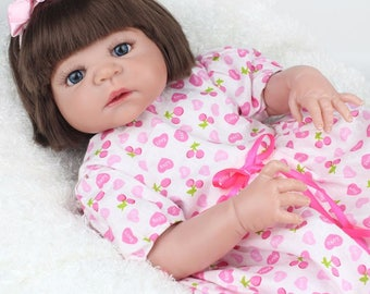 22 Inch Full Body Silicone Reborn Baby Doll-----DHL SHIPPING