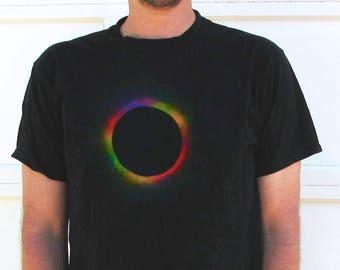Men's Solar Eclipse Tee - Cosmic Color Wheel