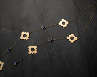 Handmade Jewellery, Gold Plated Necklace, Gold Plated Jewelry, Artistic Jewellery, Personalized jewelry, Peruvian craftsmanship, SOLUNA