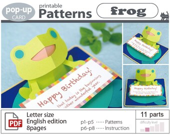 pop-up card__Patterns__frog_ (Download sales)