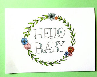 Hello Baby Expecting Greeting Card