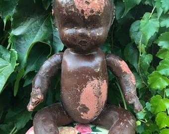 Black Americana Composition Baby Doll Rare