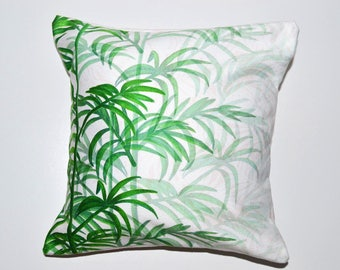Small Square Palm Ombre Cushion With Envelope Opening, Luxurious, Hand Made