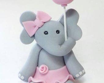 Girl Elephant Cake Topper