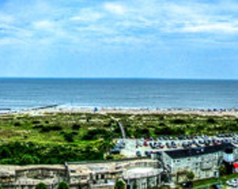 FINE ART PANORAMA   Color Fine Art Print view from atop the Tybee Island Lighthouse