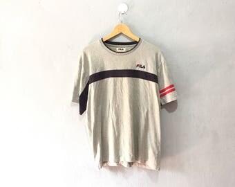 Vintage FILA Shirt Colour Block Size L