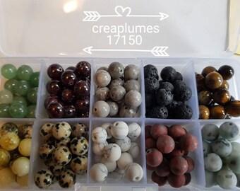 Sublime Box 200 gemstones 8mm beads
