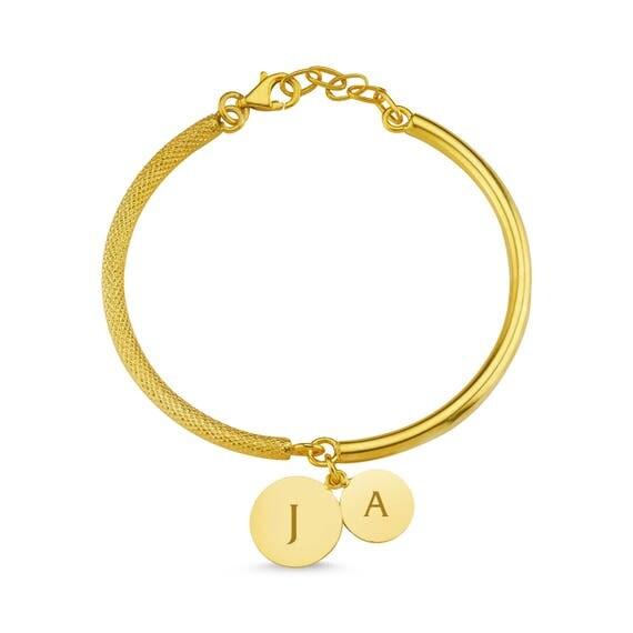 Personalized Bracelet, Initial Bracelet, Bangle Bracelet, Rose Gold Bracelet, Engraved Bracelet, Valentine's Day , Gold Bracelet, For Her