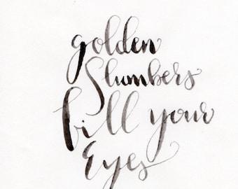 Golden Slumbers Digital print