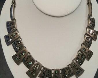 Vintage Silver 9.25 Necklace with Greek Design, TM.275 MEXICO 925