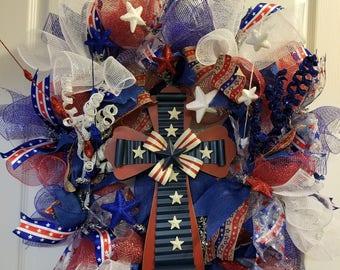 Red, White & Blue - Patriotic Wreath