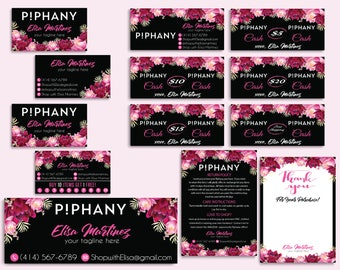 Custom Piphany Package, Piphany Marketing Kit, Piphany Starter Bundle, Piphany Card, Floral Flower Card, Printable Cards - Digital file PP25