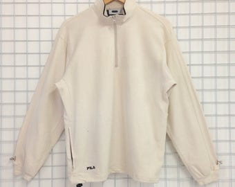 Vintage Fila Sweatshirts Half Zipper Medium Size Nice Design