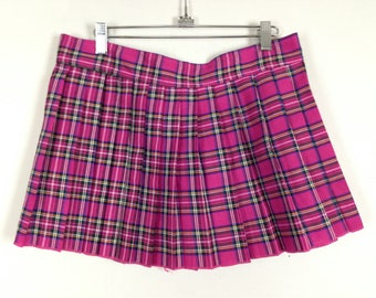 Pink plaid skirt size S