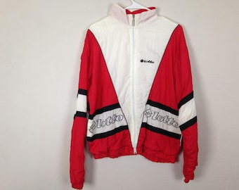 90s red and white windbreaker size M