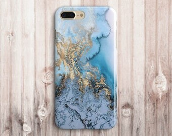 Blue Gold Marble iPhone 5 case,marble iphone 5c case,Marble iphone se case,marble iphone 5s case,marble iphone 6 case,marble iphone 6s case