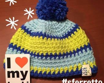 Baby Hat pattern stripes