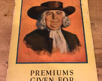 Catalogue of premiums given for Quaker Oats coupons advertising 1934
