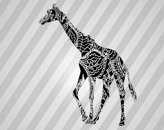 young giraffe Silhouette - Svg Dxf Eps Silhouette Rld RDWorks Pdf Png AI Files Digital Cut Vector File Svg File Cricut Laser Cut
