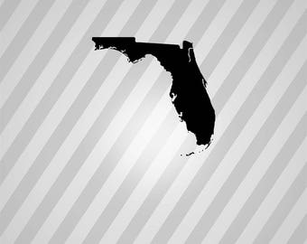 Florida Map Silhouette Maps- Svg Dxf Eps Silhouette Rld RDWorks Pdf Png AI Files Digital Cut Vector File Svg File Cricut Laser Cut