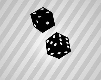dice Silhouette - Svg Dxf Eps Silhouette Rld RDWorks Pdf Png AI Files Digital Cut Vector File Svg File Cricut Laser Cut