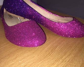 Ombre flats, sparkly