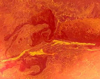 Fluid Acrylic Abstract Art by Fred Henry
