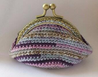 small coin purse with clasp retro crochet