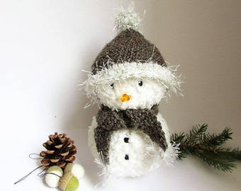 """Dan"" snowman with his hat and scarf Brown"