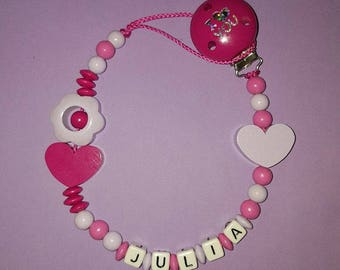 "Personalized pacifier ""flower"""