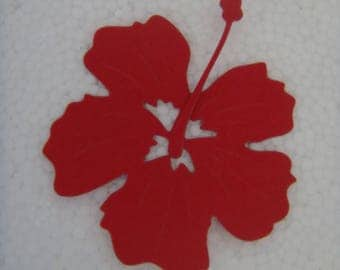 Red hibiscus for scrapbooking or card cutting