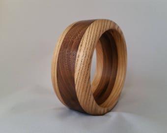 Wood ash and Walnut band bracelet