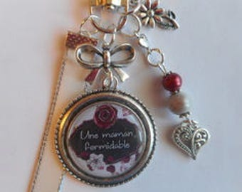 "Bag charm, door keys/MOM / ""A great Mom"" / gift/mothers day / thanks/Christmas/birthday"