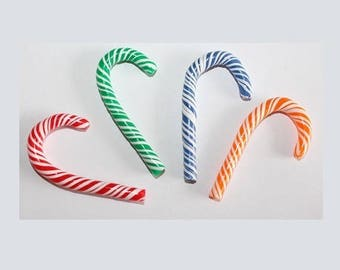 Sweets, 12 polymer clay candy canes