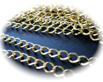 1 m gold aluminium chain 6 X 8 mm. FOR YOUR CREATIONS