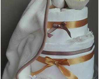 2 story baby shower gift diaper cake